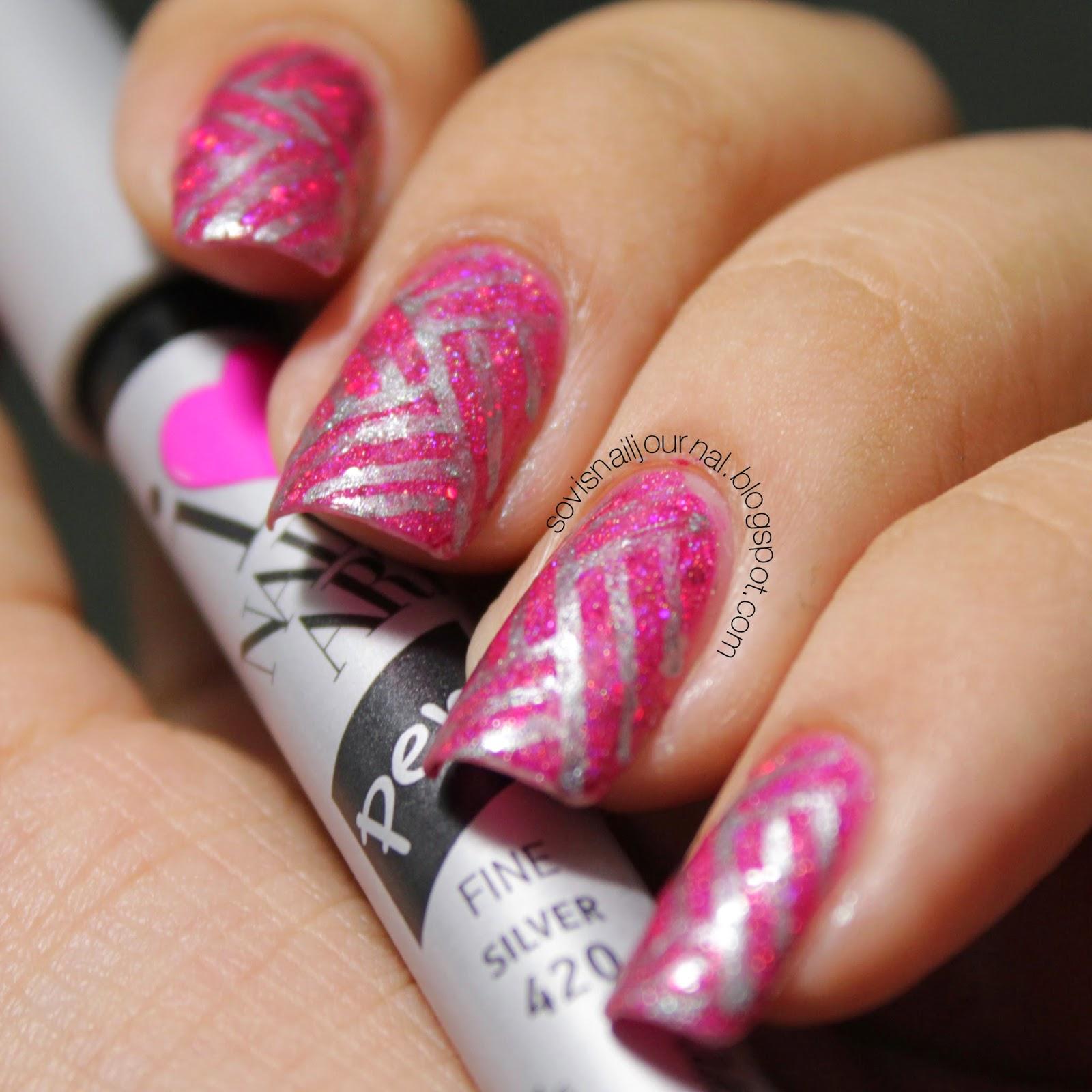 Sovis Nail Journal Sally Hansen I Heart Nail Art Stylo Nail Art
