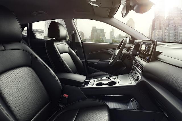 New Hyundai Kona Electric dashboard view