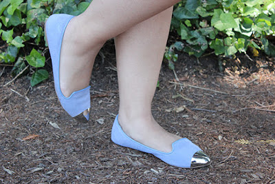 Silver Capped Blue Flats Dolce Vita