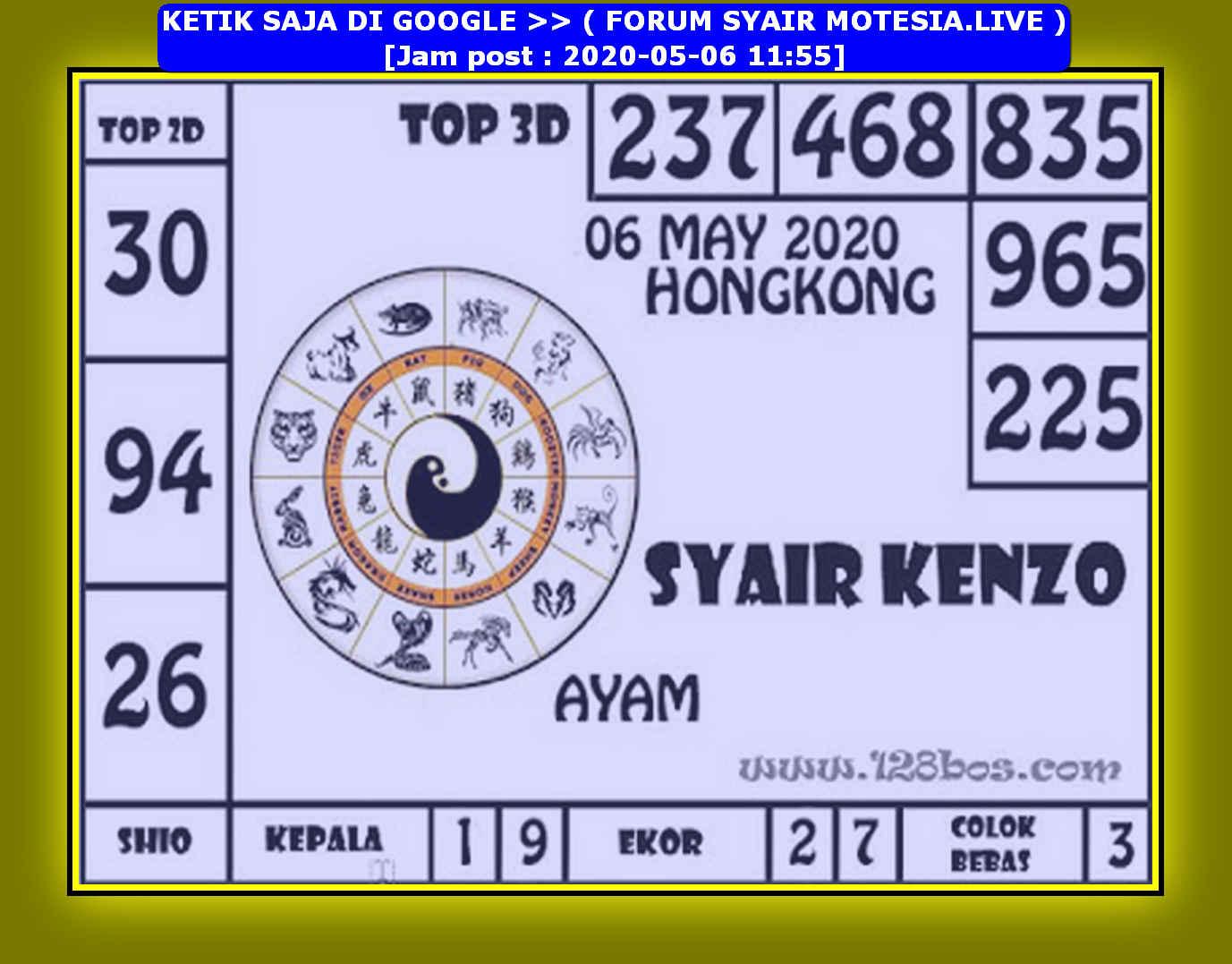 Kode syair Hongkong Rabu 6 Mei 2020 191