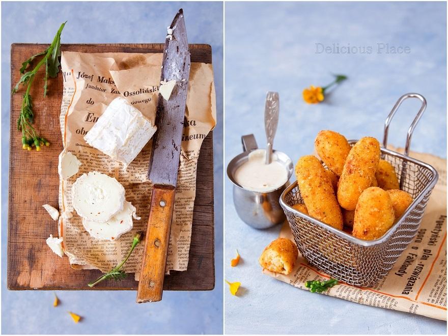Paluszki ziemniaczane z kozim serem