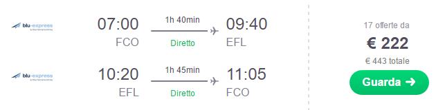 Volo Roma - Cefalonia