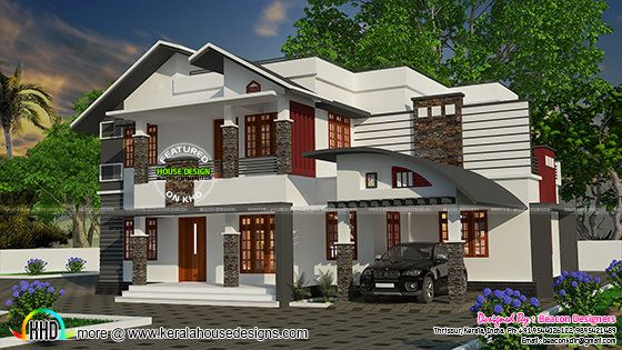 2138 square feet mix roof home
