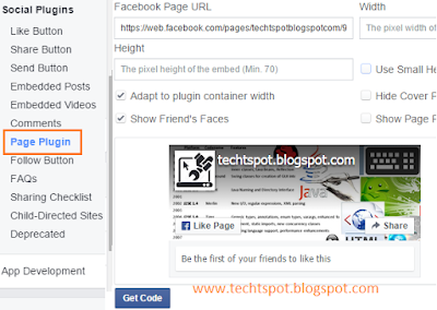 Add Facebook Fan Page To Blogger Blog 1