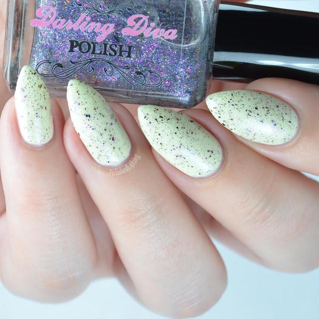 purple flakie nail polish