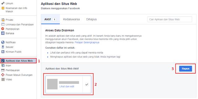 Cara Hapus Aplikasi Facebook
