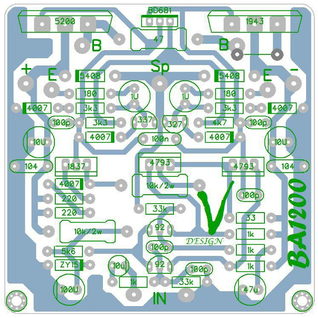 PCB Driver Power Apex BA1200