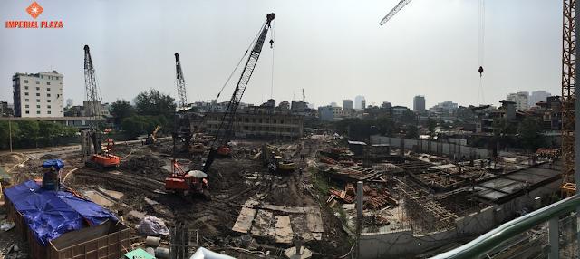 Tiến độ xây dựng chung cư Imperial Plaza