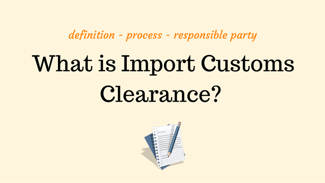 import customs clearance definition | picture | image