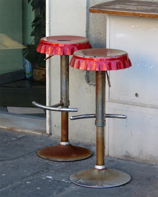 Bar stools, Piazza Giovine Italia, Livorno