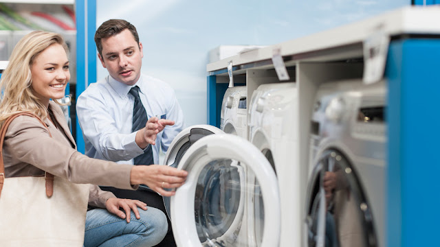 Interactive shopping advice for the right washing machine