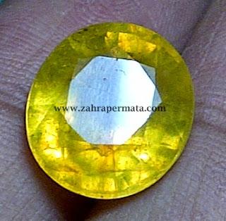 Batu Permata Yellow Saphire