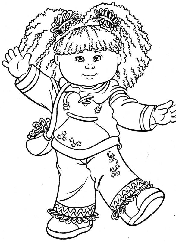 Interactive Magazine: happy kid girl coloring pages