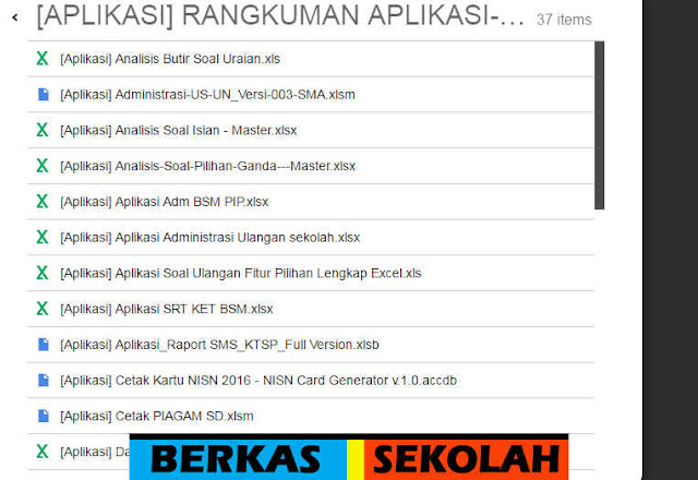 Download 37 Aplikasi Excel menunjang Kegiatan Guru di Sekolah Jenjang SD SMP SMA SMK MA MTs dan MI