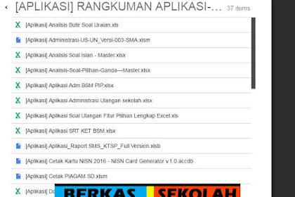 37 Aplikasi Excel menunjang Kegiatan Guru di Sekolah Jenjang SD SMP SMA SMK MA MTs dan MI