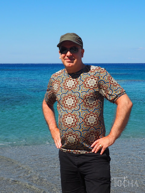 Crete, Kerames, men's fashion, elastan, digital print, jersey, slow fashion, Hinduism, Buddhism, dresowka.pl, Scotland