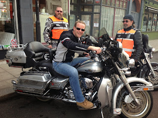 Picture of Roberto on a Harley Davidson