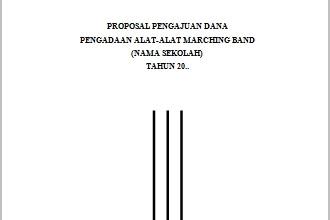 Proposal Pengajuan Dana Pengadaan Alat-Alat Marching Band Lengkap