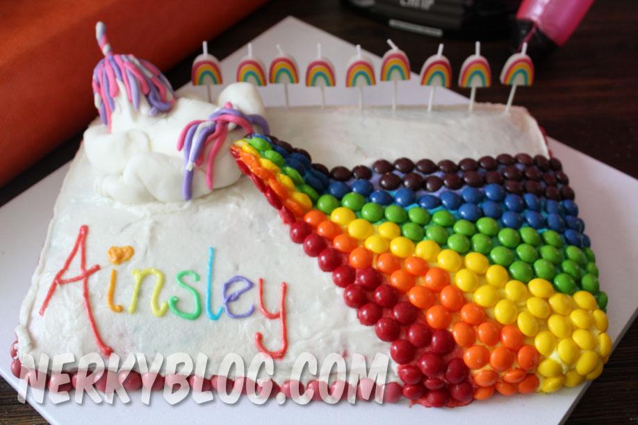 Small Rainbow Icing Cake