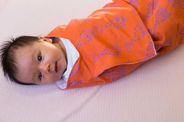 Lotta Jansdotter baby snuggler swaddle wrap
