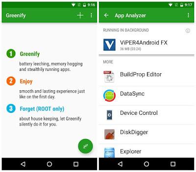 Greenify - Aplikasi Android Untuk Meningkatkan Performa Sistem Paling Andal
