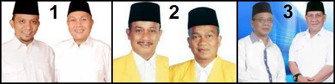 Tiga pasang calon bupati dan wakil bupati Kabupaten Padang Lawas (Palas) 2018