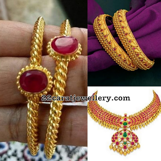 Temple Necklace Bangles