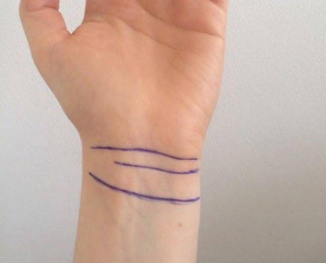 If You have 3 or 4 lines on your wrist, you are a really special person! 3