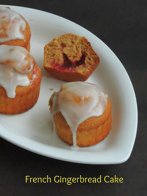 French Gingerbread Cake, Nonnettes à la fraise