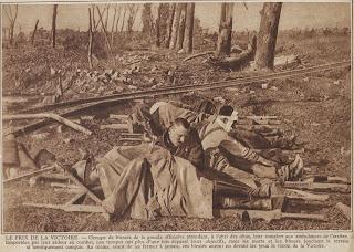 Tijdens het groot offensief werden veel soldaten gekwetst of gedood.
