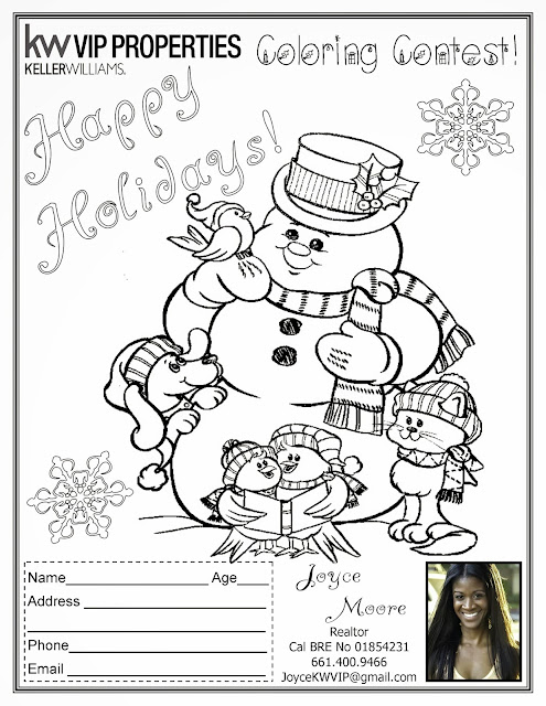 Holiday Coloring Contest!