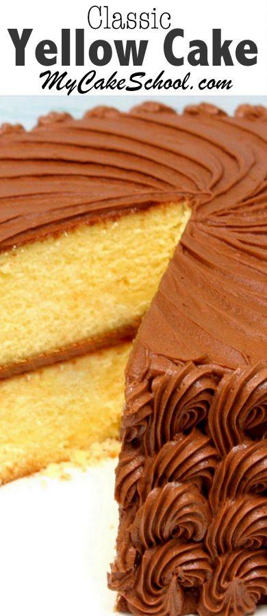 Yellow Cake #dessert #yellow #cake