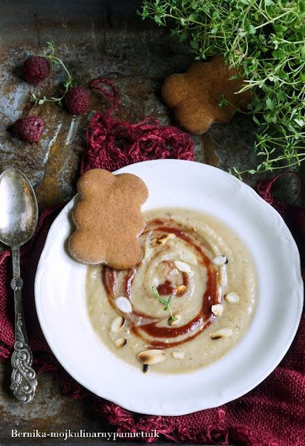 seler, zupa, krem, piernik, bernika, kulinarny pamietnik, obiad
