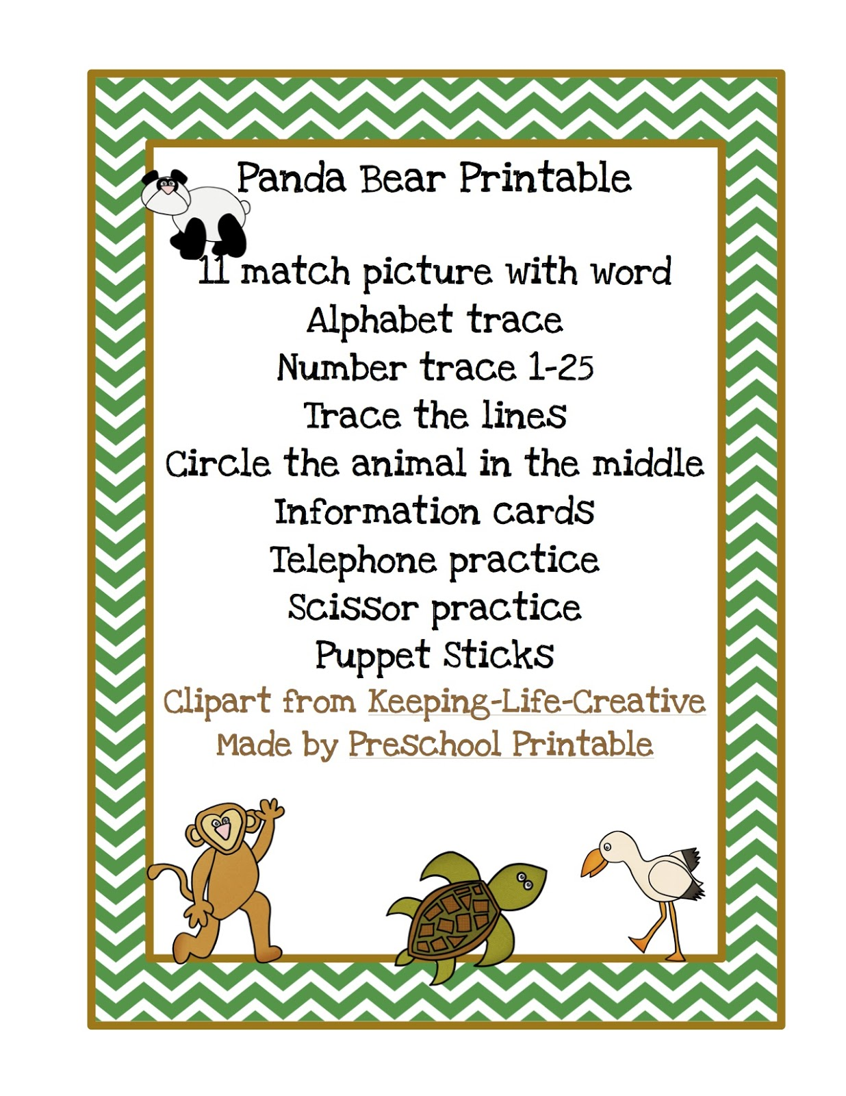 Panda Bear Printable Panda Bear Panda Bear What Do You