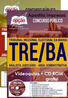 Apostila concurso do Tribunal Eleitoral da Bahia 2017 cargo Analista Judiciário TRE-BA.