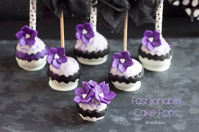 Purple Fashion Cake Pops Pint Sized Baker