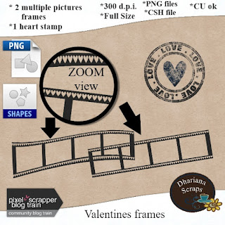 CU film strip frames FREEBIE