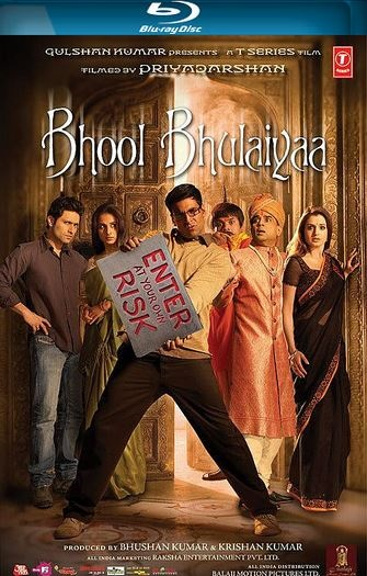 Poster Of Bhool Bhulaiyaa 2007 Hindi 450MB BRRip 480p ESubs Free Download Watch Online