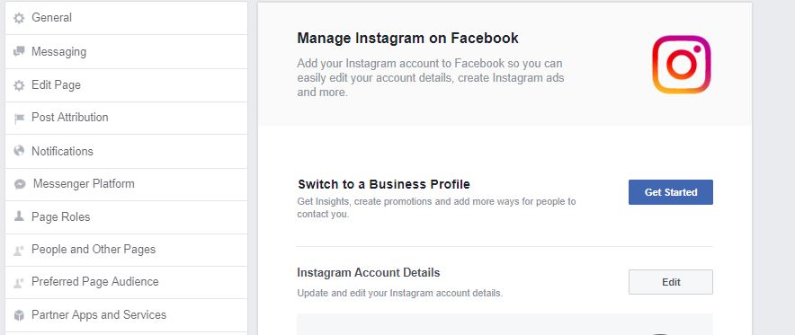 Use Instagram from Facebook page and post directly