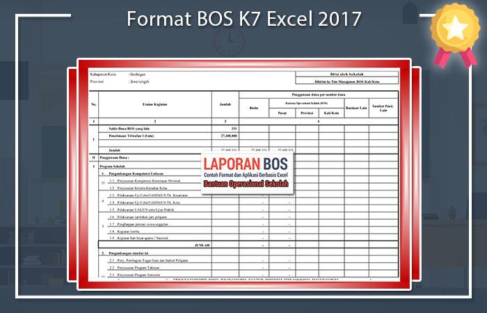 Format BOS K7 Excel