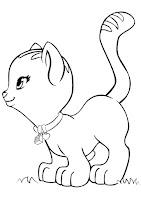 דף צביעה חתול