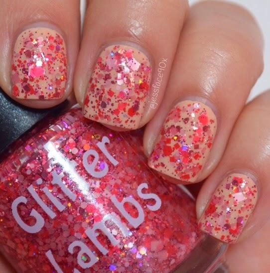 Strawberry Preserves Glitter Lambs Nail Polish