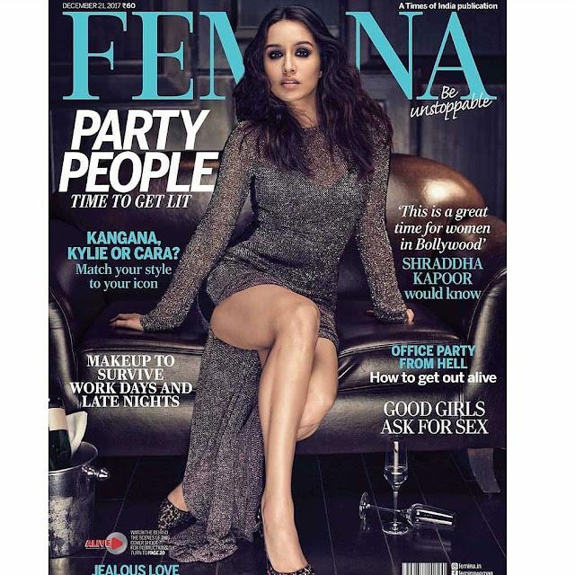 Shraddha Kapoor Sizzles on Femina Mag Dec 2017 Issue