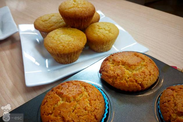 Cornbread muffins o magdalenas de maíz