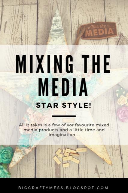 Mix the Media - Jillibean Soup mixed media star- Rachel Gillham Art