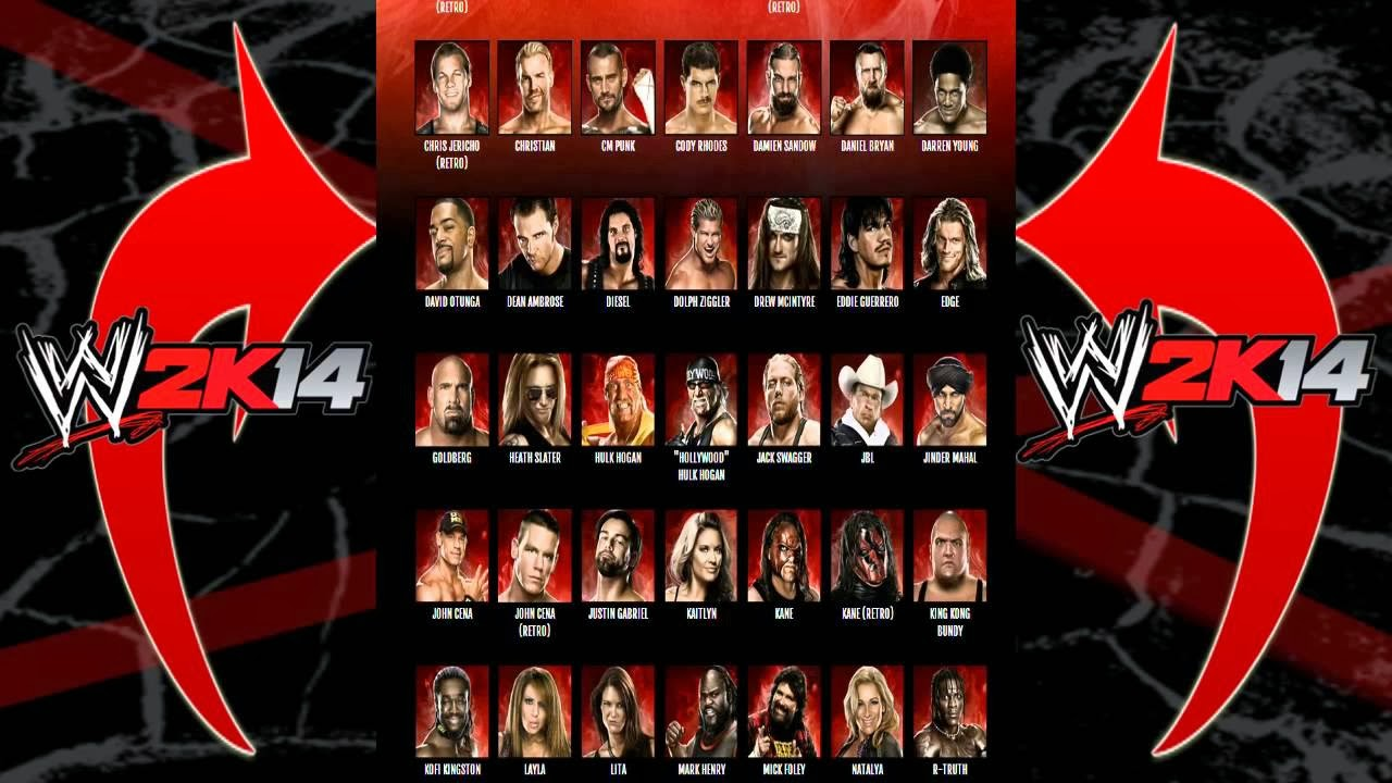 WWE 2K14 Full Roster is slightly disappointing!