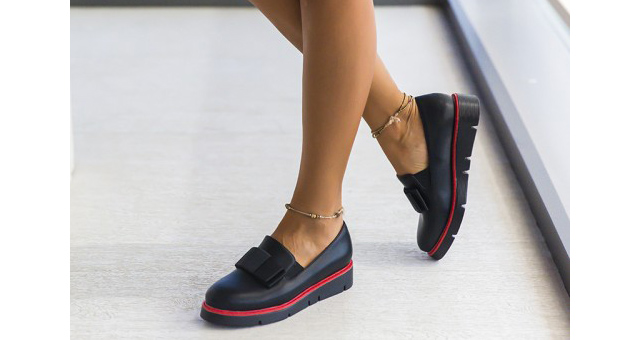 Pantofi casual dama negri la moda ieftini online toamna