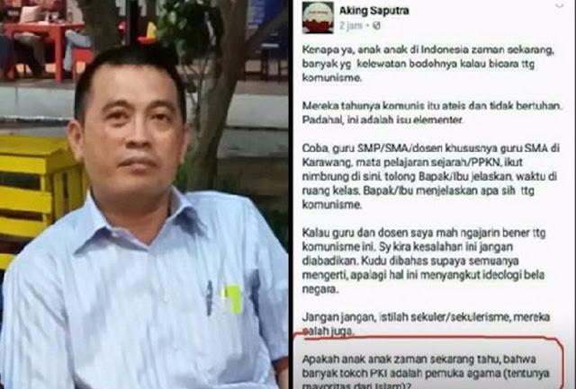 Sudah Tersangka Tak Ditahan, HMI Karawang Desak Pulisi Penjarakan Aking
