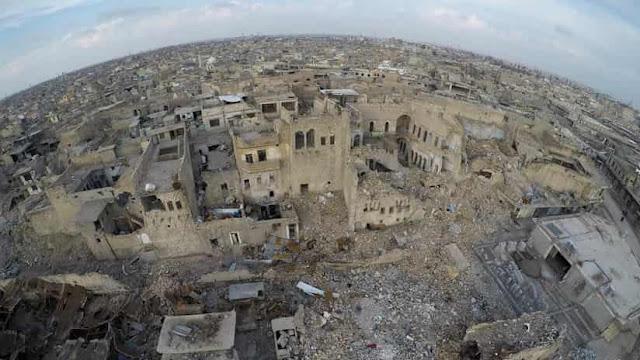 Una vista aérea de la ciudad iraquí de Mosul