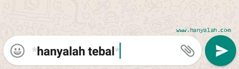 Cara Bikin Huruf di WhatsApp Jadi Tebal